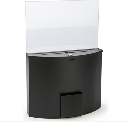 wholesale acrylic donation drop off bins charity collection box donation boxes for sale