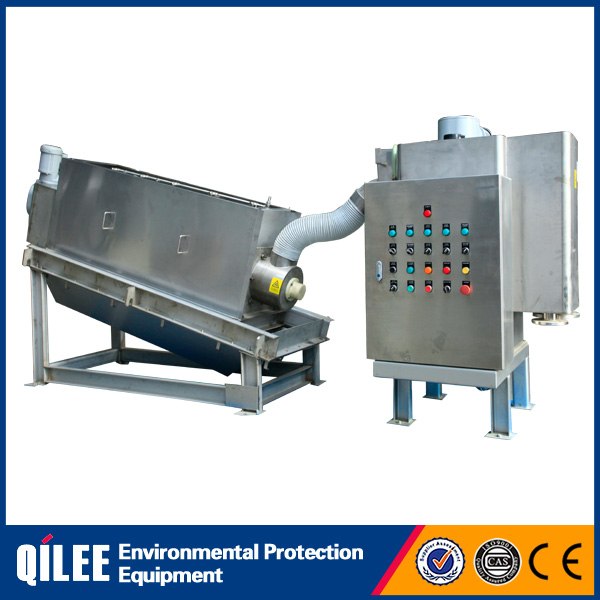 printing and dyeing mud water separation volute dewatering press