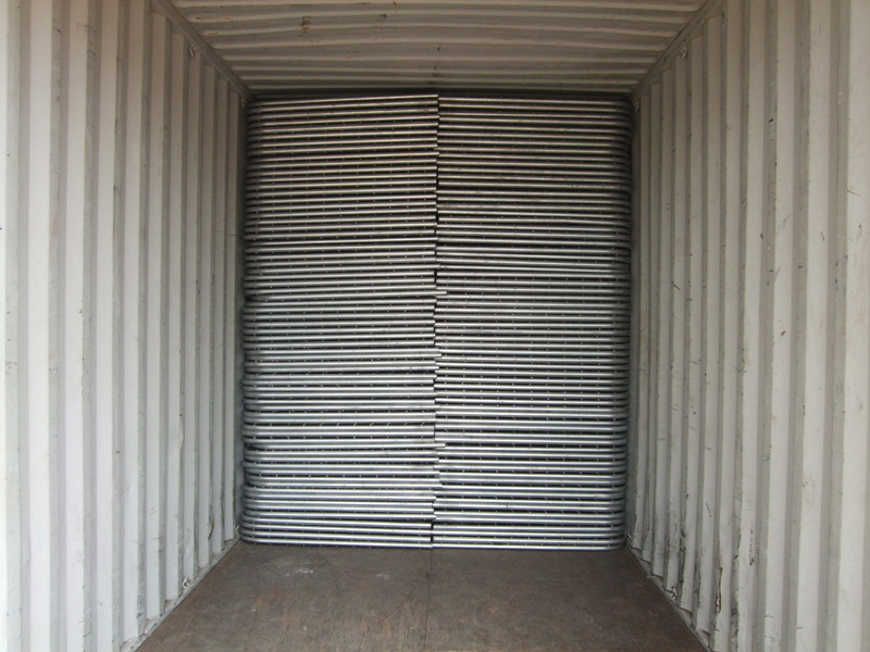 Galvanized steel farm iron gate