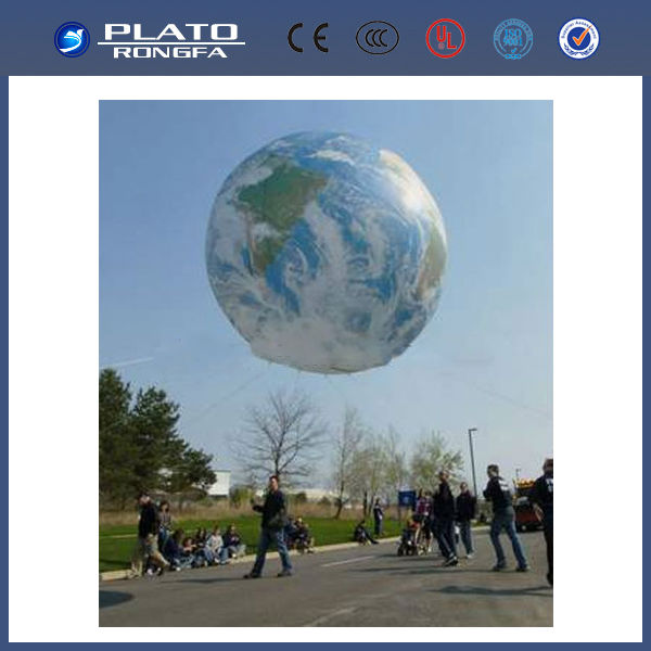 giant inflatable helium ball / world balloon outdoor / decorative hanging balloon