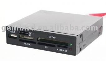 FDI2-ALLIN1S-B USB 2.0 internal CF/MD/SM/MS/SD/MMC/XD card reader/writer with SATA port