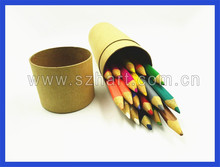 promotional natural wood single colored pencils eco friendly color pencil high quality 18 color pencil set 7 inch
