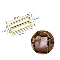 Custom round edge square ring gold side release buckles metal strap bag clip buckle for bags