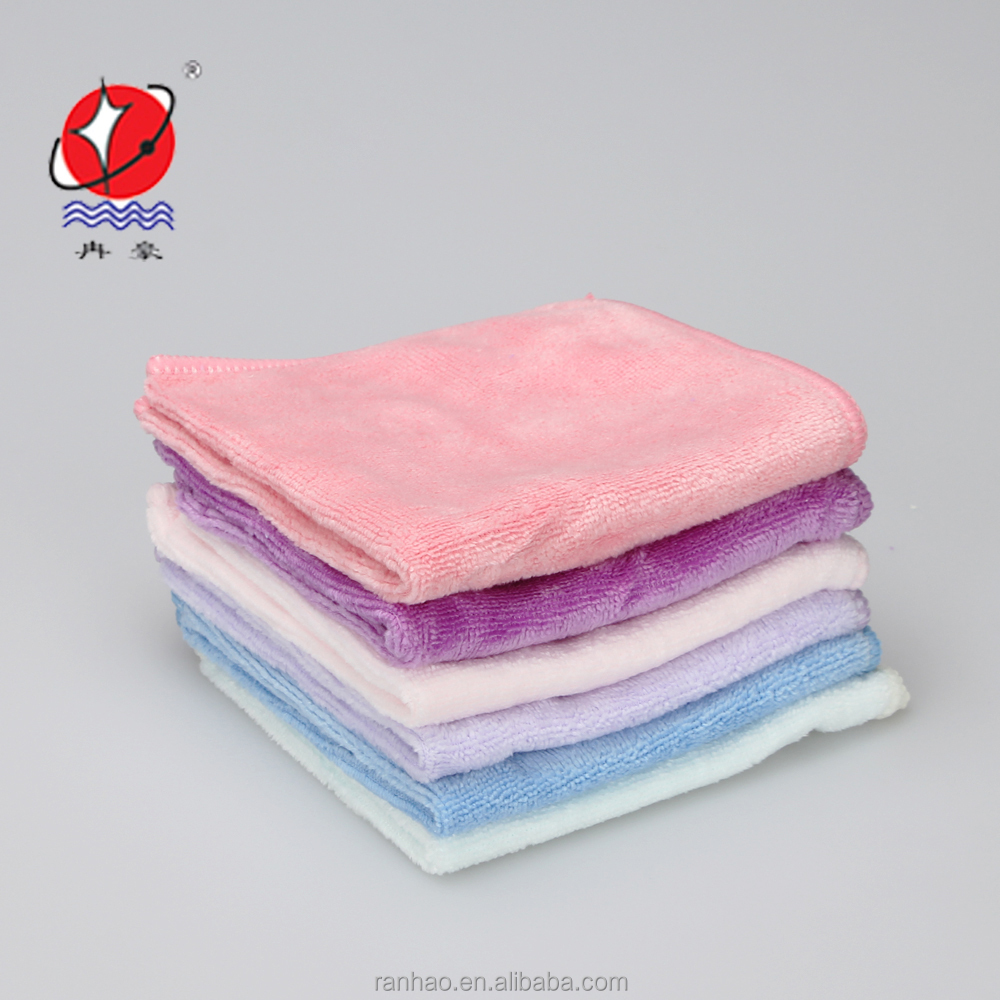 Extra soft 80% polyester 20% polyamide makeup remover towel set for face eyes hair salon and spa