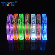 New Festival Concert Parties Items TPU Material Led Light Glow In The Dark Bracelet