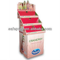 Commercial promotion carton Cardboard Floor Stand Display for Bottle