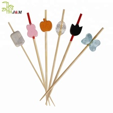 2018 hot saleNatural disposable bbq bamboo skewers with custom logo from JIMAO