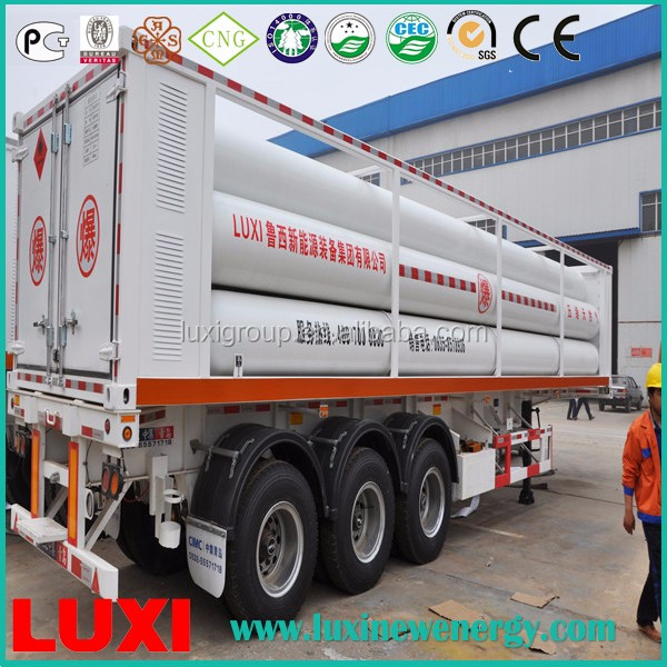 LUXI pressure vessels jumbo gas cylinder tanker trailer 25MPa oxygen and fuel semi trailer