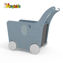 2018 New Original Design Elephant wooden baby walking toys for indoor learning walker W16E096