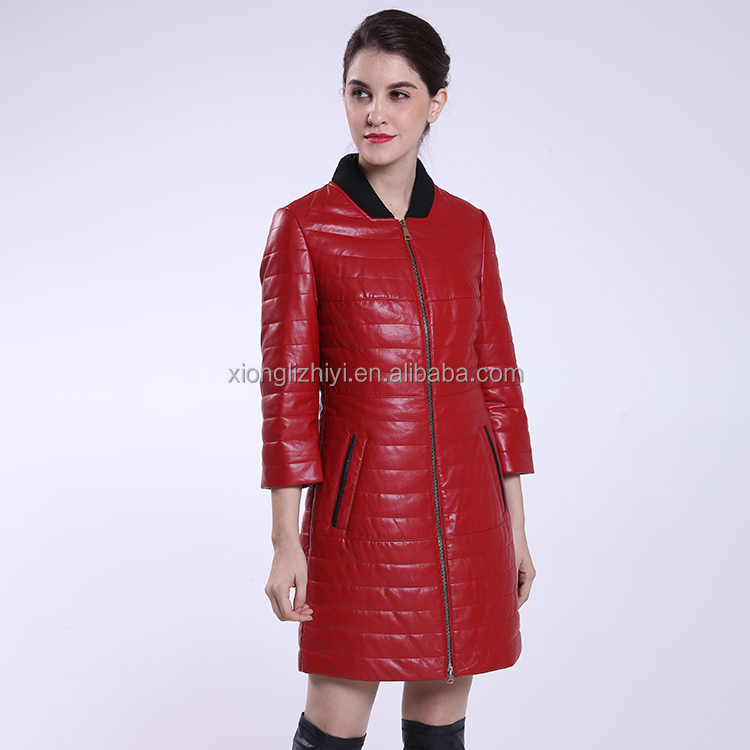 Slim Zipper Designed Pu Leather Jacket Women 2016 Winter