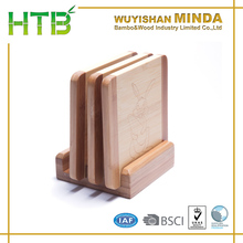 4pcs bamboo cutting board with display stand set