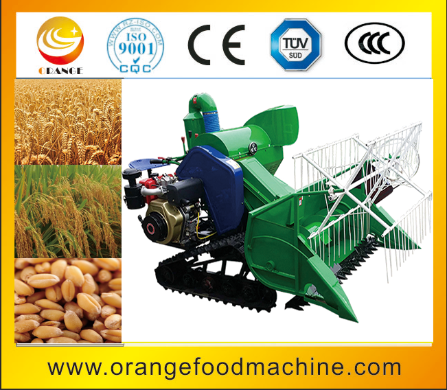 Hot Selling Crawler Type Price Of Rice Combine Harvester With Seat