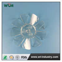 Durable plastic fan blade injection mold