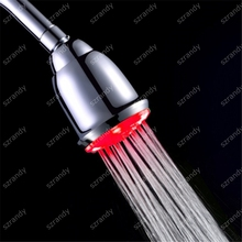 Bathroom Water glow single red color LED Top Showers