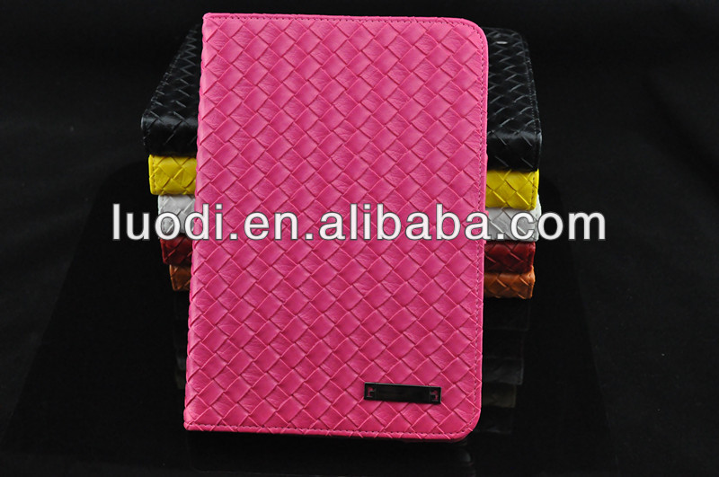 wholesale high quality knitting pattern case for ipad mini
