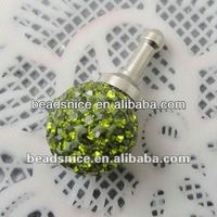 Beadsnice 3.5mm Earphone Ear Cap Dock Dust Plug rhinestones:8mm ID:22714 earphone dust plug for iphone5
