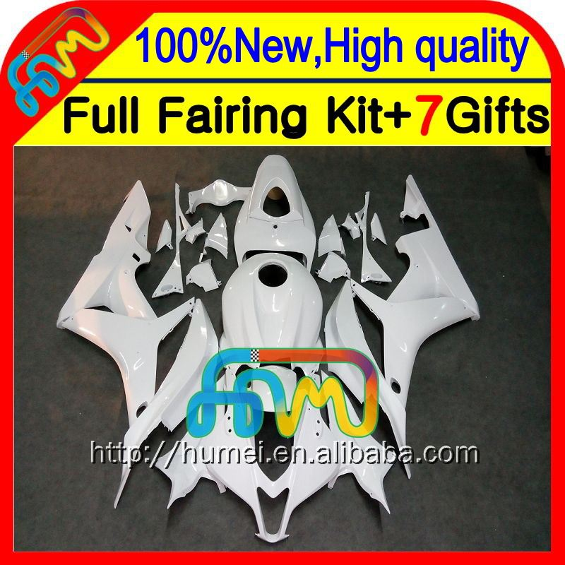 Body Injection F5 For HONDA ALL White CBR 600RR 07 08 26CL78 CBR600 RR Glossy white 600 RR 07-08 CBR600RR 2007 2008 Fairing