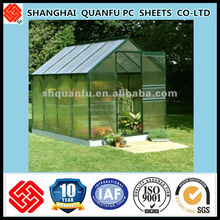 10-years warranty corrugated plastic greenhouse panels/clear corrugated plastic panels/greenhouse roof panels