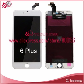 Black color Good Quality mobile phone lcd for iPhone 6 plus lcd screen digitizer