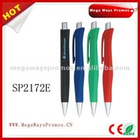 Plastic ball pen with rubber finish