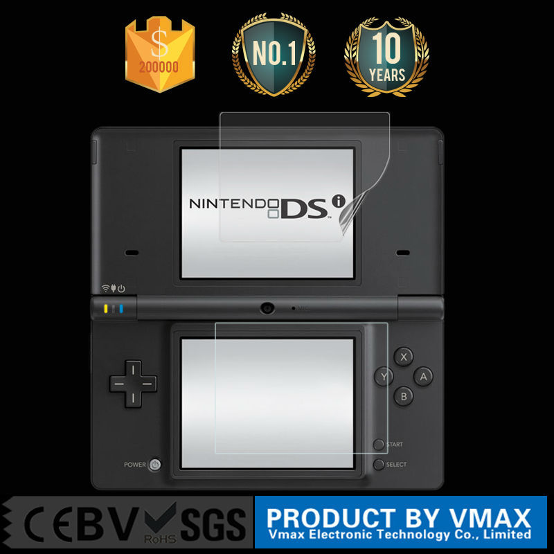 Custom player game accessory screen protector for NDS/3DS anti glare screen protector