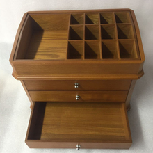 Professional wooden cosmetic storage box with CE certificate