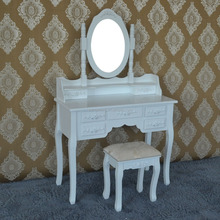 modern dresser with mirror and drawer, dressing table with white color for bedroom furniture