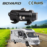 horizontal type bldc r410a rotary inverter compressor for camping van car heat pump style air conditioning system