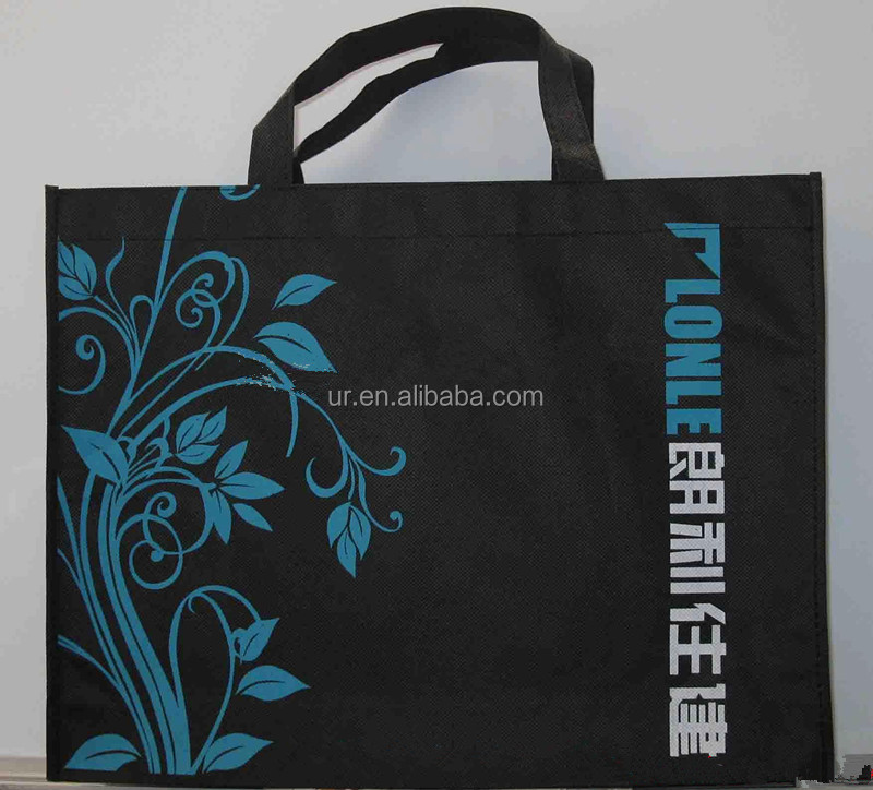 Full color print promotional non woven tote shopping bag