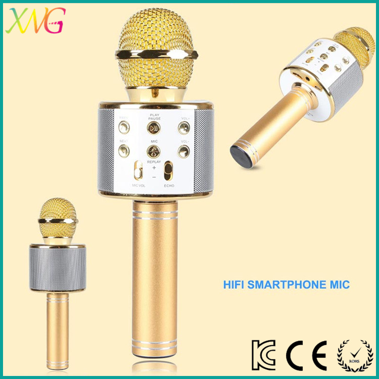 2017 new products ws858 microphone wireless mic bluetoooth microphone