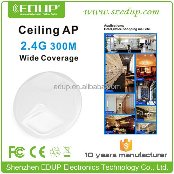 Wide coverage 2.4G Ceiling wifi AP 300M wireless router Indoor wireless Ceiling Access Point EP-AP2609