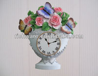 flower design modern decorative art clock table clock