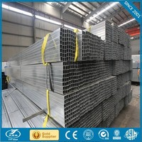galvanized hollow section weight/structure building material/hot dipped galvanized square tubes