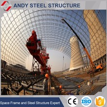 Industrial safety drawings coal shelter with space frame structure
