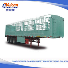 China factory customized 3 axles cargo fence semi trailer for sale