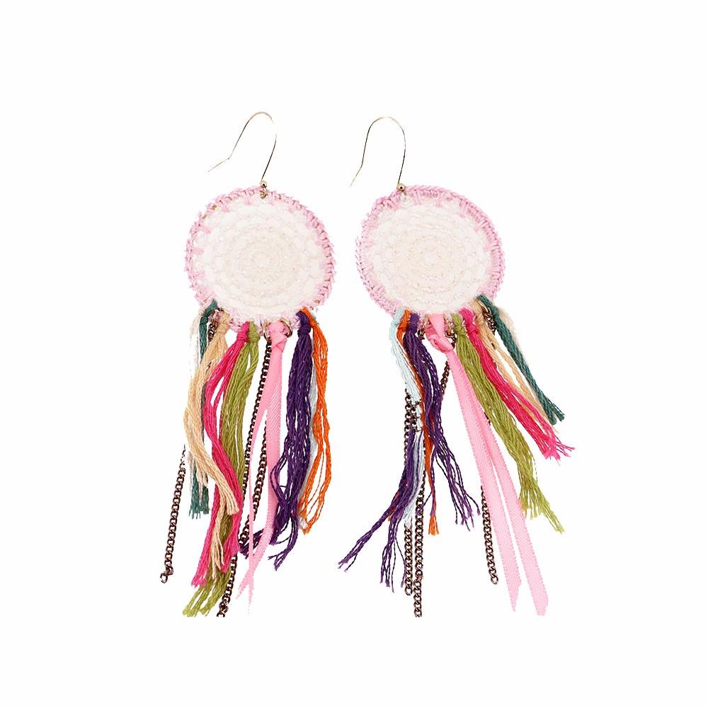 Factory Handmade Multi Tassel Crochet Earring Jewelry Dream Catcher