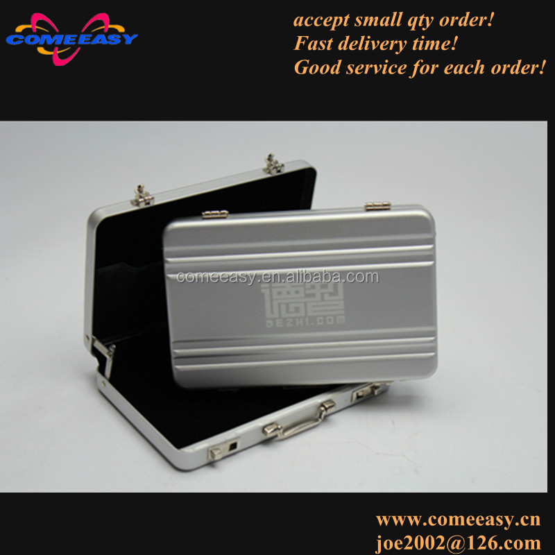 printing custom logo mini briefcase design aluminum credit card holder case