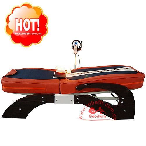Thai Cheap AC 220V Auto Vibrating Electric Magnetic Therapeutic Far Infrared Jade Rolling Thermal Massage Bed for CE Approved