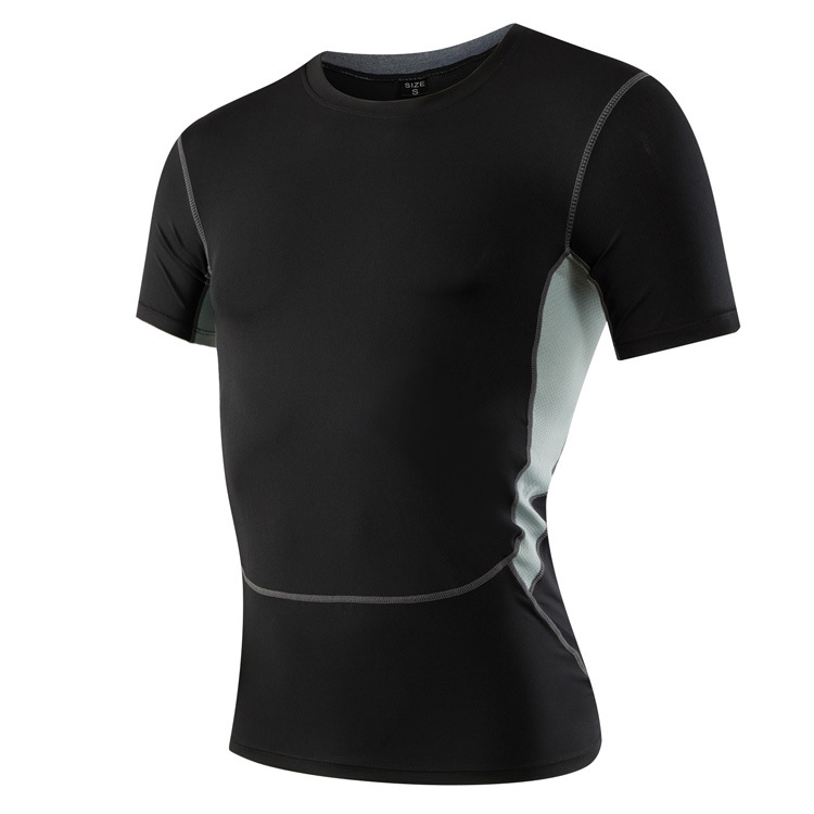 Men's Skin Compression Short Sleeve Shirts Gym Workout Golf Training Running Fitness Tights Sports Tank Top Golds Men's T Shirt