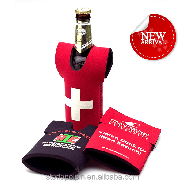 Fashion various custom neoprene drink beer wine bottle cooler sleeve