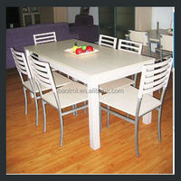 real OEM factory manufacture durable marble top dining table