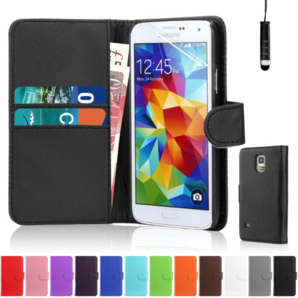For Samsung galaxy s5 i9600 Leather wallet case