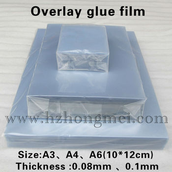 Overlay with glue film
