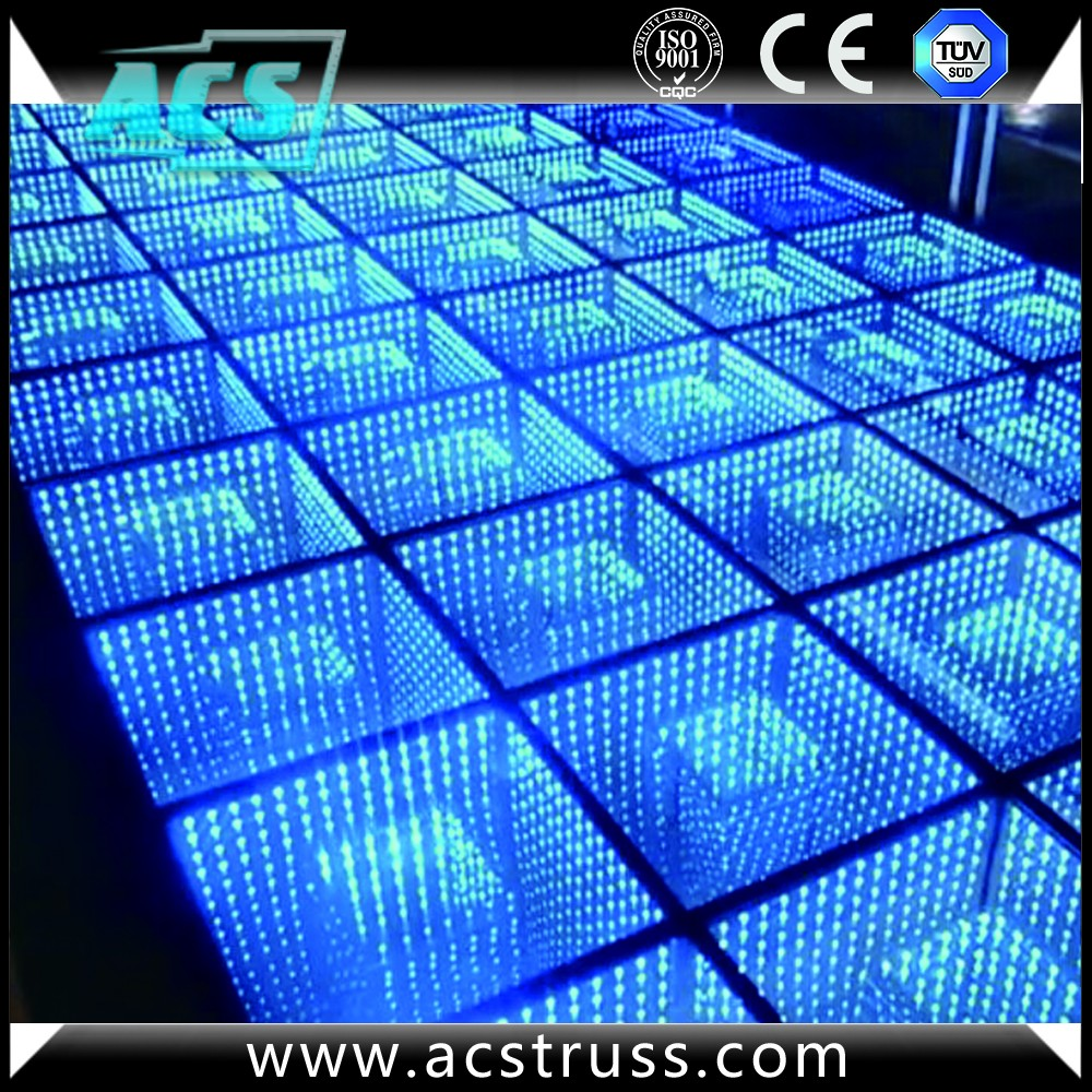 ACS KTV Disco Home 3D Infinite Effect RGB Portable Tap Led Dance Floor for Sale