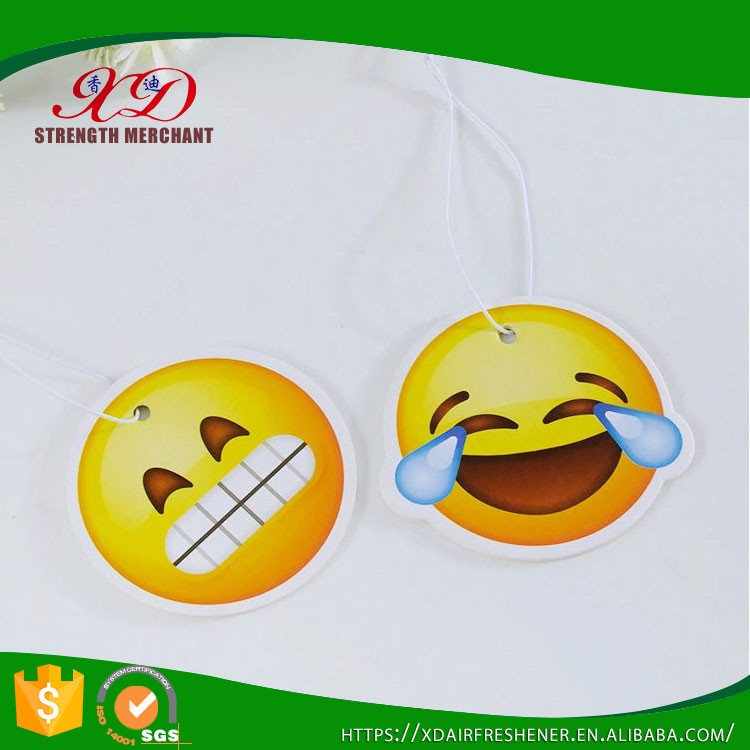 Custom Car Air Freshener/ Smile Face Paper Air Freshener Hanging