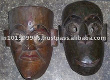 tribal wooden masks At buy best prices on india Arts Palace