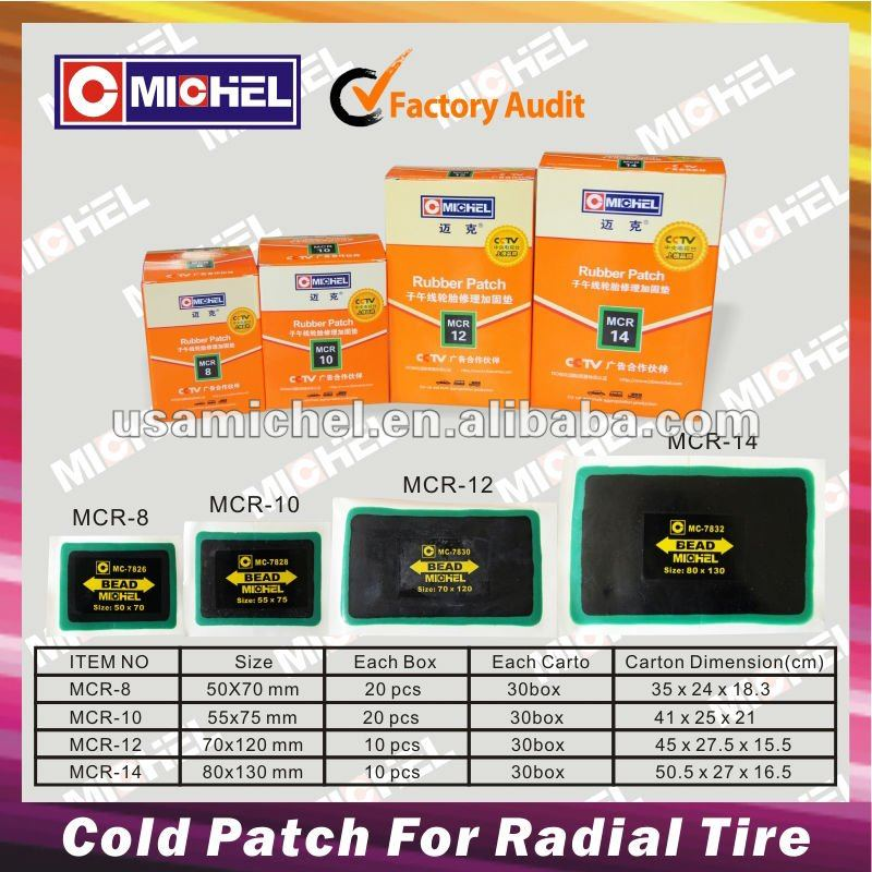 Tire Repair Cold Rubber Patches