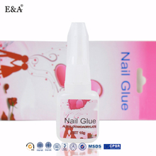 EA Chinese manufacture cosmetic nail art brush glue remove nail glue nails 10g