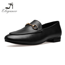 2017 Wholesale Custom Logo Black Wine Genuine Leather Casual Horse Bit Slip On Driving Flats Shoes Loafers For Women
