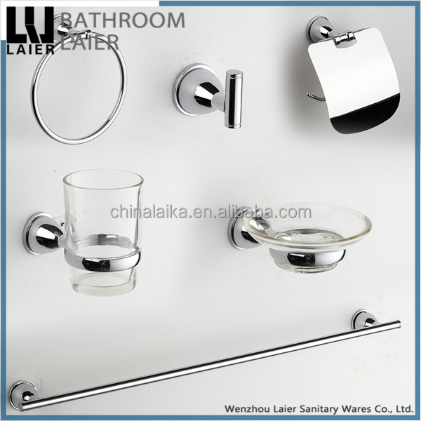 Latest Styles & Innovations ZInc Alloy Chrome Finishing Wall-Mounted Bathroom Accessories Set